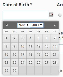 Gravity Forms: How to set datepicker default date and add