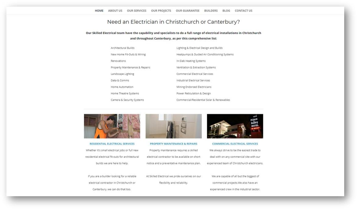Skilled Electrical old website